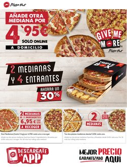 Ofertas de Restauración en el catálogo de Pizza Hut en Camargo ( 9 días más )