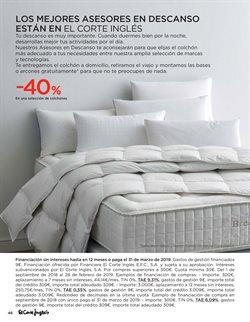 Ofertas de Camas  en el folleto de El Corte Inglés en Madrid