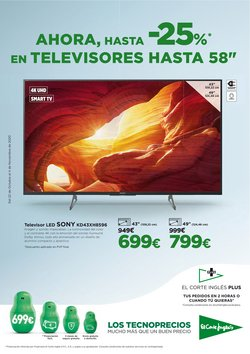 Ofertas de Smart tv led 50'' en El Corte Inglés