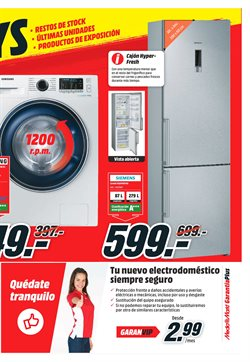 Ofertas de Lavadora carga frontal  en el folleto de Media Markt en Jerez de la Frontera