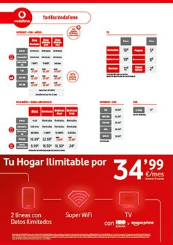 Ofertas de Tarifas Vodafone en Media Markt