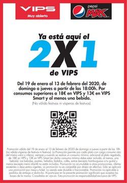 Ofertas de Restauración  en el folleto de Vips en Pola de Siero