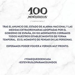 Cupón 100 Montaditos en Murcia ( 5 días más )