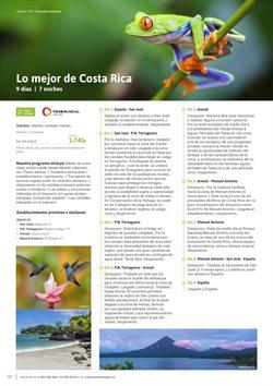 Ofertas de Viajes a Costa Rica  en el folleto de Viajes El Corte Inglés en Madrid