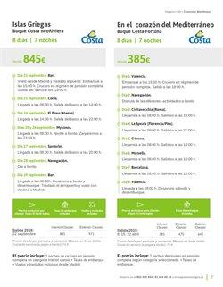 Ofertas de Viajes a Valencia  en el folleto de Viajes El Corte Inglés en Madrid