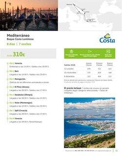 Ofertas de Cruceros por el Mediterráneo  en el folleto de Viajes El Corte Inglés en Sant Boi