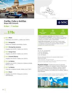 Ofertas de Viajes a Cuba  en el folleto de Viajes El Corte Inglés en Lleida