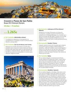 Ofertas de Cruceros  en el folleto de Viajes El Corte Inglés en Madrid