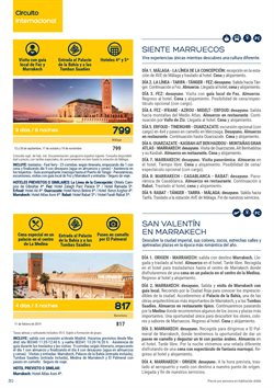 Ofertas de Viajes a Marruecos  en el folleto de Viajes El Corte Inglés en Vilanova i la Geltru