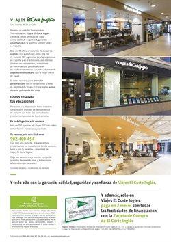 Ofertas de Hoteles  en el folleto de Viajes El Corte Inglés en Alicante