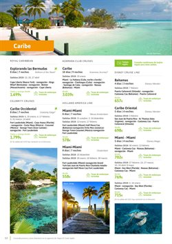 Ofertas de Viajes a Cuba  en el folleto de Viajes El Corte Inglés en Vila-real