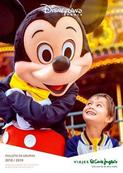 Ofertas de Viajes a Disneyland  en el folleto de Viajes El Corte Inglés en Barcelona