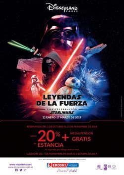 Ofertas de Viajes a Disneyland  en el folleto de Viajes Eroski en Madrid