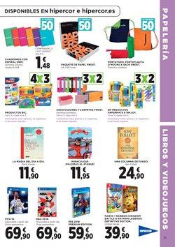 Ofertas de Paquete de papel  en el folleto de Hipercor en Madrid