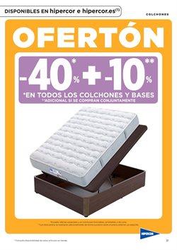 Ofertas de Colchones  en el folleto de Hipercor en Sanlúcar de Barrameda