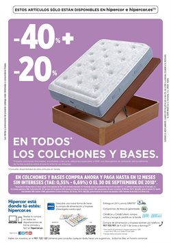 Ofertas de Dormitorios  en el folleto de Hipercor en Murcia