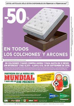 Ofertas de Camas  en el folleto de Hipercor en Paterna