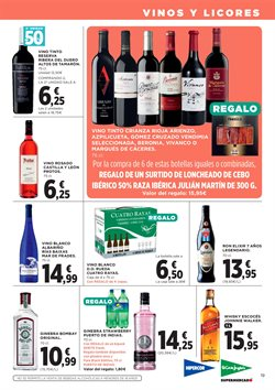 Ofertas de Vino tinto  en el folleto de Hipercor en San Bartolomé de Tirajana