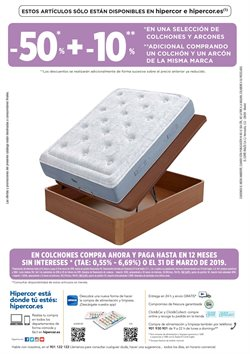 Ofertas de Dormitorios  en el folleto de Hipercor en Córdoba