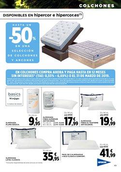 Ofertas de Dormitorios  en el folleto de Hipercor en Alcalá de Henares