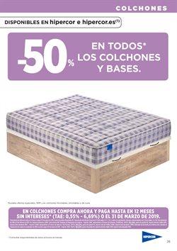 Ofertas de Camas  en el folleto de Hipercor en Madrid