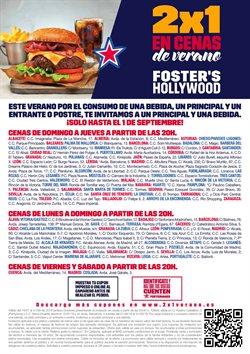 Ofertas de Restauración  en el folleto de Foster's Hollywood en Calella