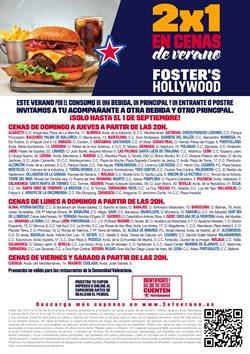 Ofertas de Foster's Hollywood  en el folleto de Sanlúcar de Barrameda