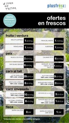 Catálogo Plusfresc en Linyola ( Caduca mañana )