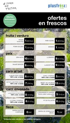 Catálogo Plusfresc en Sant Feliu ( Publicado ayer )