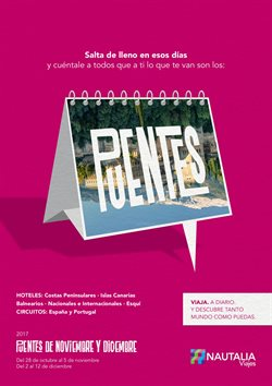 Ofertas de Viajes  en el folleto de Nautalia Viajes en Madrid
