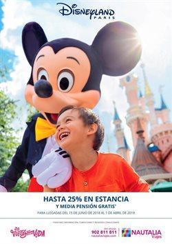 Ofertas de Viajes a Disneyland  en el folleto de Nautalia Viajes en Barcelona