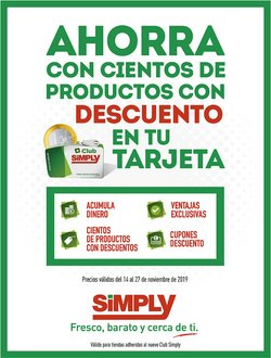 Ofertas de Simply City  en el folleto de Coslada