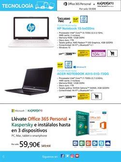 Ofertas de Ordenador portátil  en el folleto de Fnac en Madrid