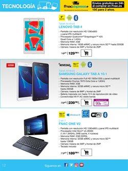 Ofertas de Tablet Samsung  en el folleto de Fnac en Madrid