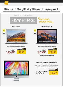 Ofertas de Fnac  en el folleto de Madrid
