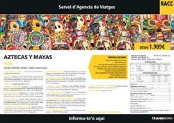 Ofertas de Viajes de novios  en el folleto de RACC Travel en Málaga