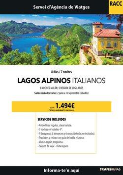 Ofertas de Viajes a Italia  en el folleto de Racc Travel en Barcelona
