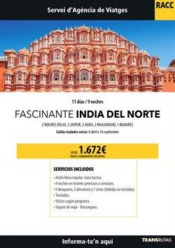 Ofertas de Viajes a la India  en el folleto de Racc Travel en L'Hospitalet de Llobregat