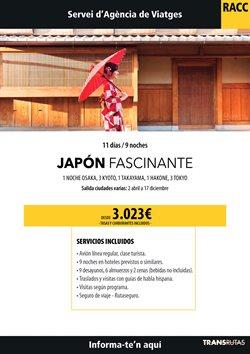 Ofertas de Viajes a Japón  en el folleto de Racc Travel en L'Hospitalet de Llobregat