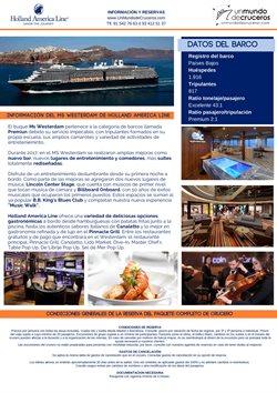 Ofertas de Cruceros  en el folleto de Racc Travel en L'Hospitalet de Llobregat
