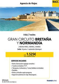 Ofertas de Viajes a Francia  en el folleto de Racc Travel en L'Hospitalet de Llobregat