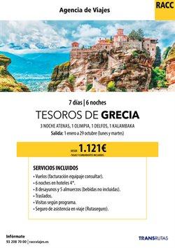 Ofertas de Viajes a Grecia  en el folleto de Racc Travel en Barcelona
