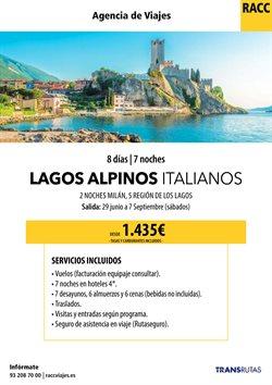 Ofertas de Viajes a Italia  en el folleto de Racc Travel en Sant Boi