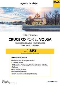 Ofertas de Cruceros fluviales  en el folleto de Racc Travel en L'Hospitalet de Llobregat