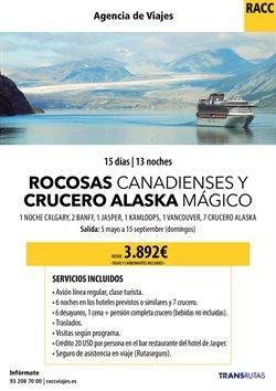 Ofertas de Cruceros  en el folleto de Racc Travel en Prat de Llobregat