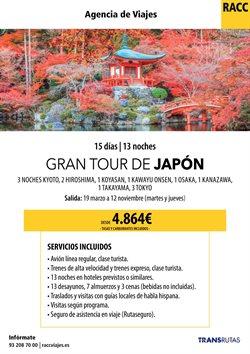Ofertas de Viajes a Japón  en el folleto de Racc Travel en Sant Feliu