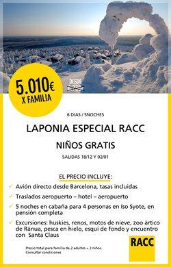Ofertas de Viajes  en el folleto de Racc Travel en Sant Boi