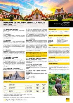 Ofertas de Viajes a Tailandia  en el folleto de Racc Travel en Sant Boi