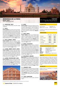Ofertas de Viajes a la India  en el folleto de Racc Travel en Castelldefels