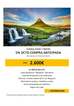 Ofertas de Destinos  en el folleto de Racc Travel en Barcelona